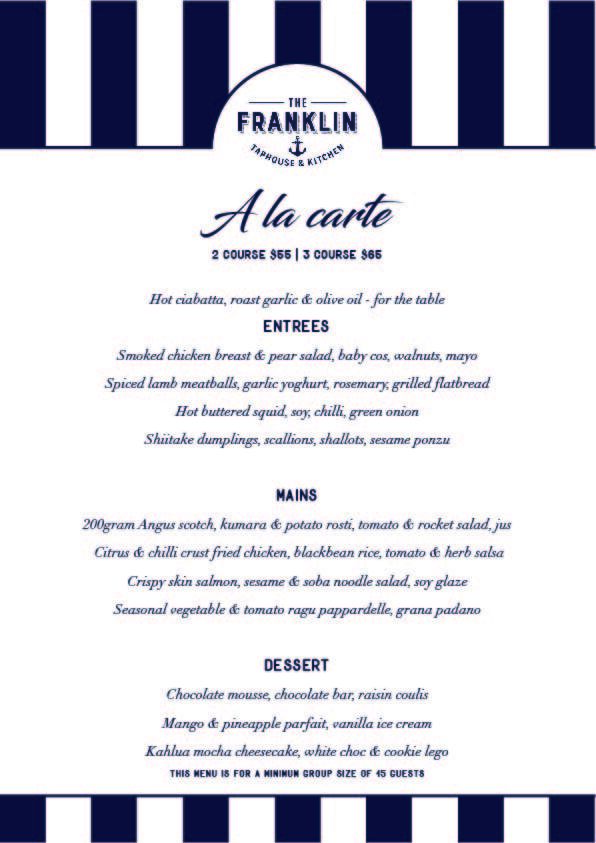 Set menu - A la carte