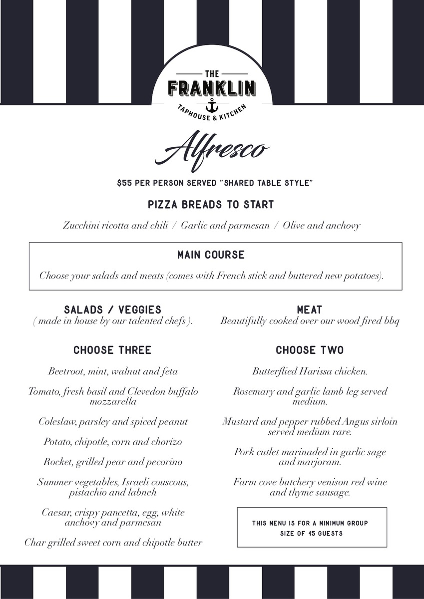 Set menu - Alfresco