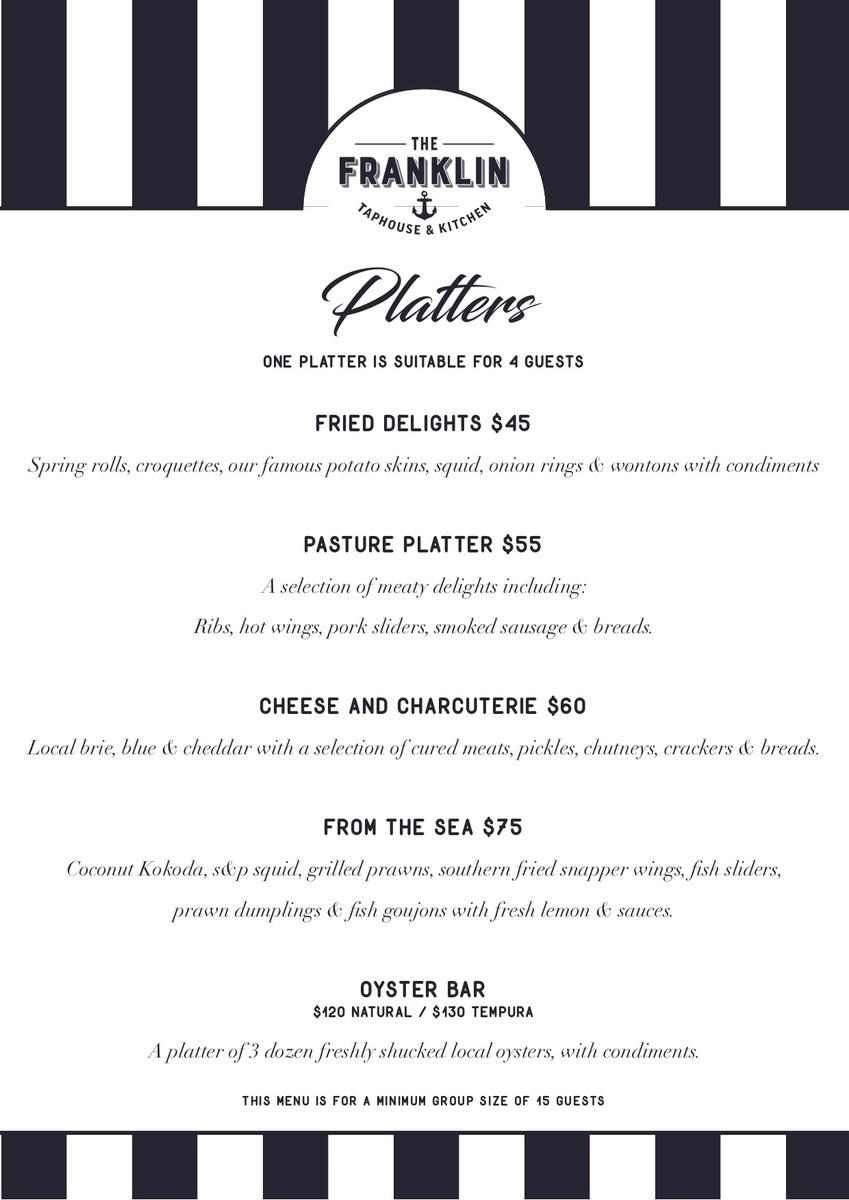 Set menu - Platters
